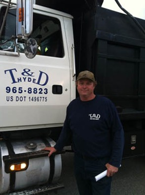 Darron Hyde of T & D Hauling and Excavation, Birmigham, AL.
